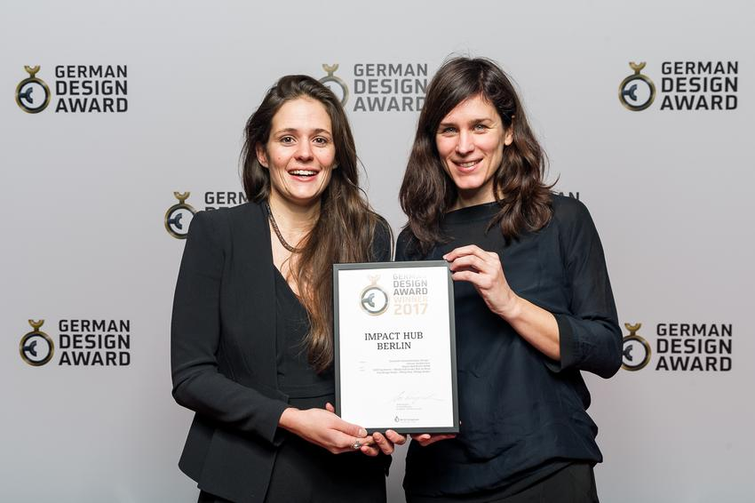 Gewinner des German Design Awards 2017 mit dem Interior Design des IMPACT HUB BERLIN